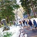 玩完雪,要往戶隱神社出發嚕