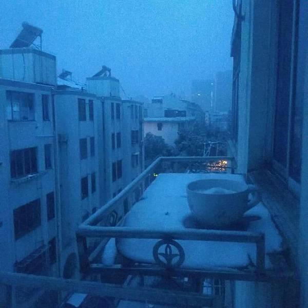 江蘇連雲港雪景