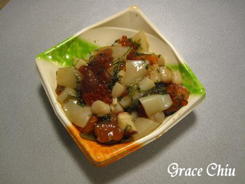 小碗生魚丼飯~這碗的醬汁好鹹