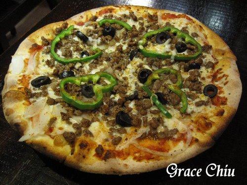 青椒牛肉披薩