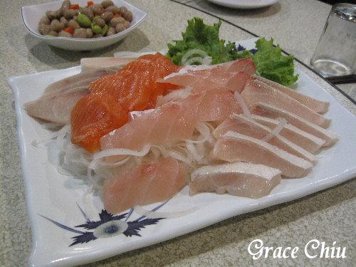 基隆海豐熱炒~新鮮生魚片