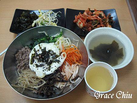韓華屋~牛肉拌飯(泡菜為加點品項)