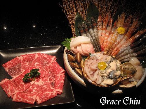 鮮蝦海鮮+美國Prime穀飼霜降牛~囍聚精緻鍋物