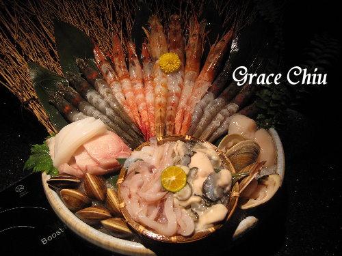 白蝦.甜蝦.虎斑蝦.天使紅蝦.藍鑽蝦~囍聚精緻鍋物
