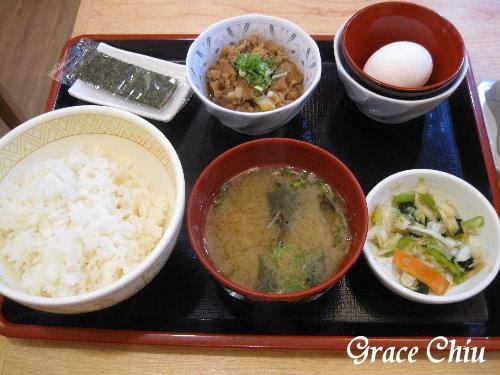 すき家 SUKIYA 日本人氣早餐 雞蛋拌飯 牛丼