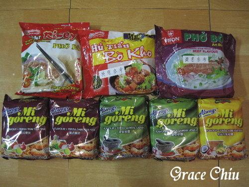 EEC購入越南河粉以及馬來西亞乾麵