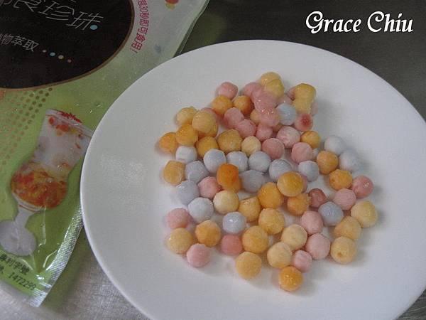 彩色珍珠 彩色泡泡珠 IQF即食彩色珍珠粉圓 巧娜娜彩色即食珍珠