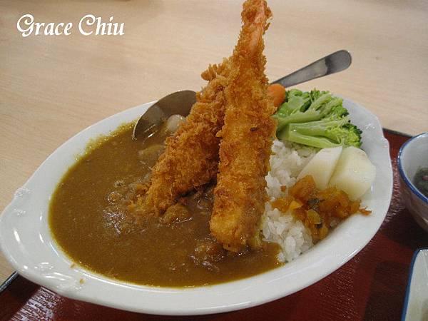 炸蝦咖哩飯 まいどおおきに食堂 南京建國食堂 日本最大連鎖庶民食堂