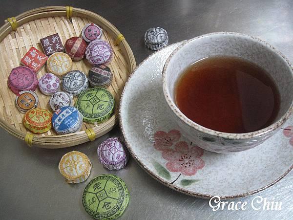 普洱小陀茶 紅海棠 伴手禮店 迪化街 大稻埕 普洱茶 茶餅 茶磚 茶沱