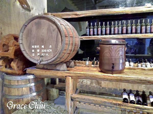 산머루농원 韓國山葡萄農園  葡萄酒裝瓶