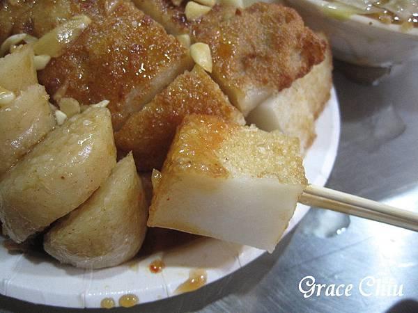 炸蘿蔔糕 炸糯米腸 炸芋粿Q  生炒魷魚  板橋小吃