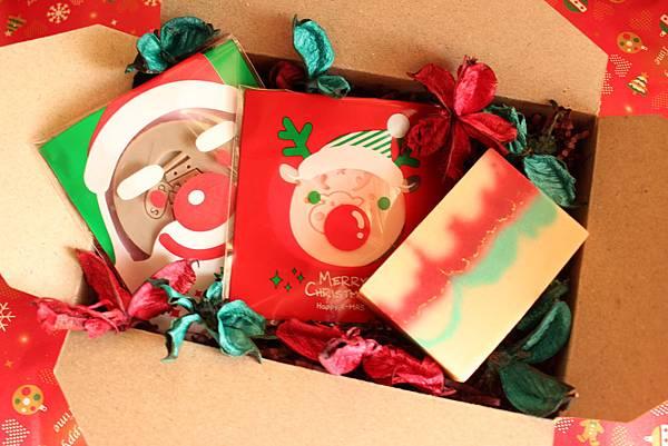 聖誕節手工皂禮盒內容物
