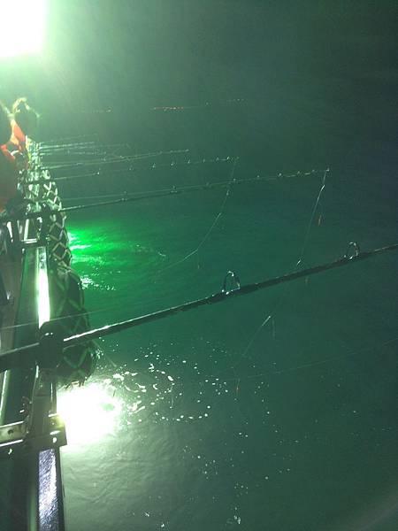 基隆夜釣白帶魚