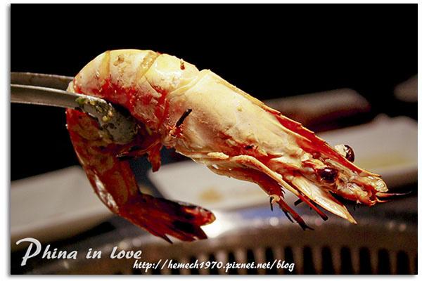 台中牧島燒肉香噴噴烤海蝦