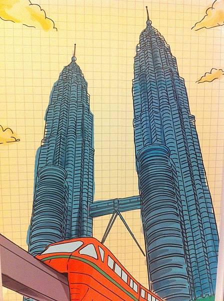 【遊】馬來西亞吉隆坡★Petronas Twin Towers雙子星塔★馬來西亞地標,必來景點!!