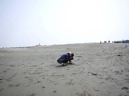 企圖挖螃蟹的兩人