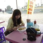 筱琳吃早餐中
