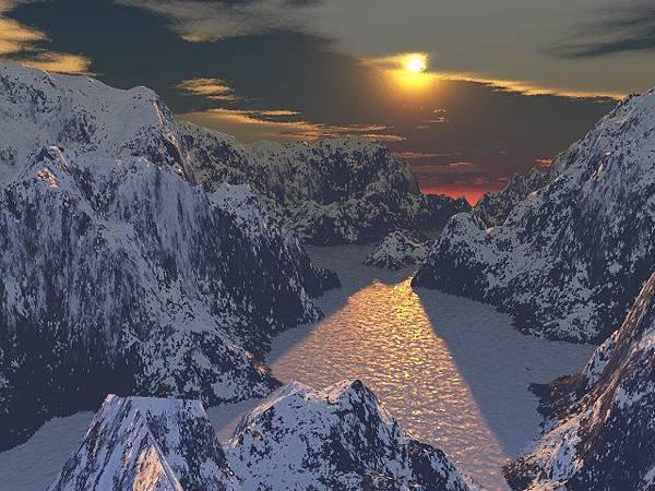Arctic sunset (北極區夕陽)