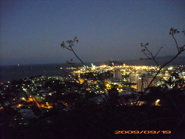 Townsville  night view from Castle Hill