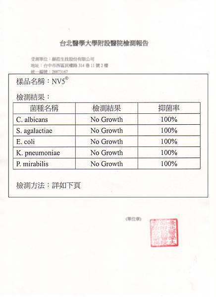 臺北醫學大學檢測表
