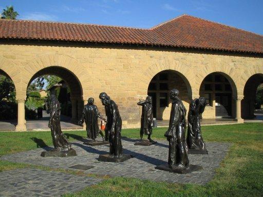 史丹佛大學-紀念庭院裡的雕像群