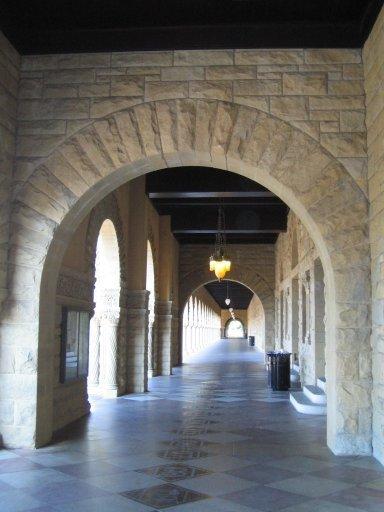 史丹佛大學-方院前廊