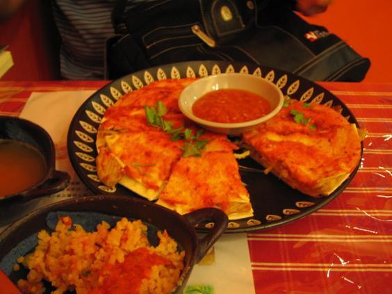 墨西哥廚房:三層塔豬肉夾心起司餅