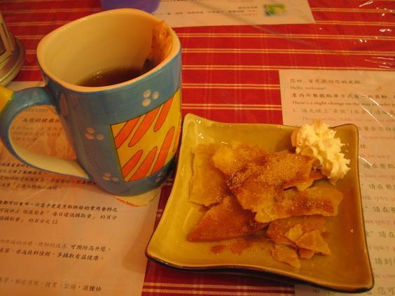 墨西哥廚房:油炸脆餅佐肉桂粉與鮮奶油(甜點)