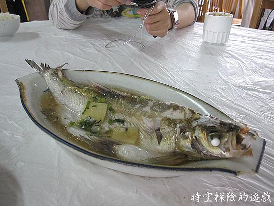 烏鎮「鴻雅酒樓」:清蒸白水魚(人民幣48元)