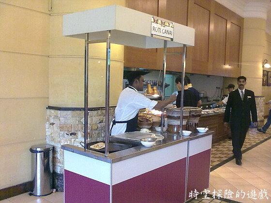 Putrajaya Marriott Hotel早餐:印度烤餅(Roti canai)