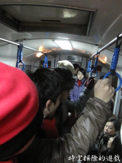 阿里山小火車車廂內