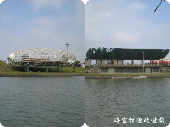冬山河:風災後的立體電影院和河岸看台