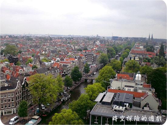 西教堂鐘塔:眺阿姆斯特丹市