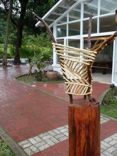 立地式樹皮燈(大)