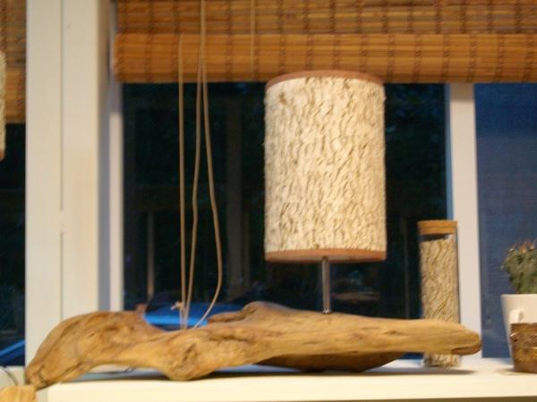 桌上型─造型樹皮燈<長燈罩>(新作品)