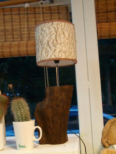 桌上型─造型樹皮燈(新作品)