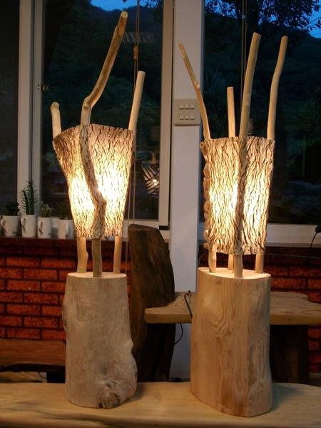 立地式─大樹皮燈(新作品)