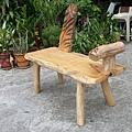 原木創意雙人椅(楠木)