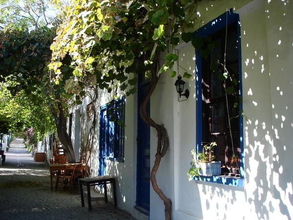 Greek style houses on Bozcaada