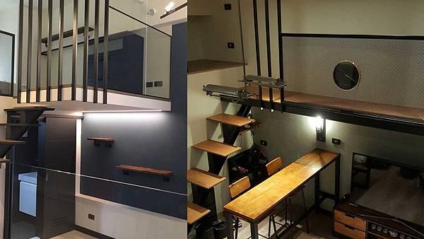 09_城市工程_台北室內設計_裝潢設計_多樣化材料_色玻璃_黑鐵件.jpg