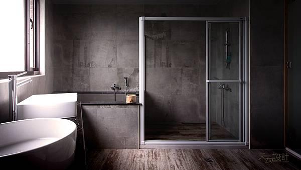 禾云室內設計_衛浴設計_乾濕分離淋浴間_泥作浴缸.jpg