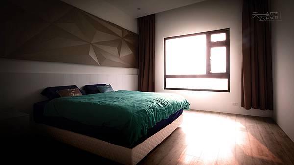 禾云室內設計_臥室_藍色配色_超耐磨地板_主臥室.jpg