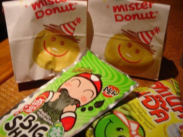 飯後點心-泰國的Mister Donuts和海苔零嘴