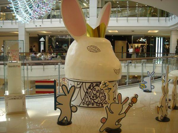 可愛的兔子頭