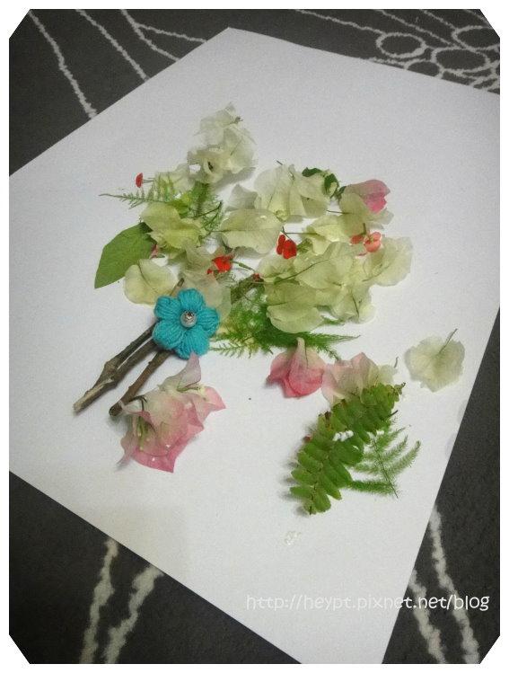 立體花草畫10