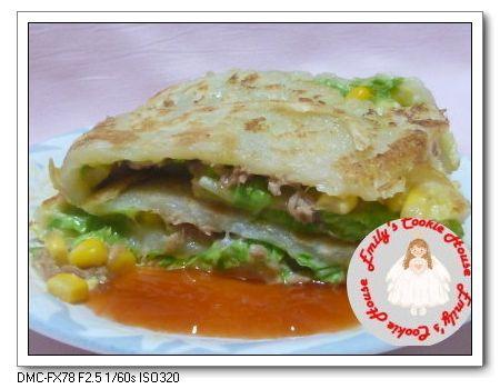 鮪魚玉米蛋餅〈麵糊法〉0323