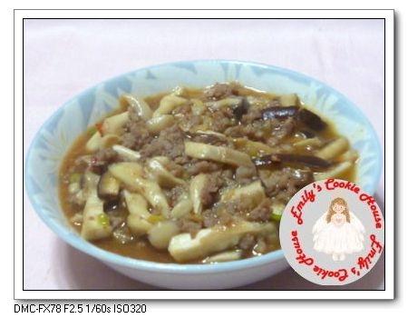 魚香肉末拌鮮菇 1129