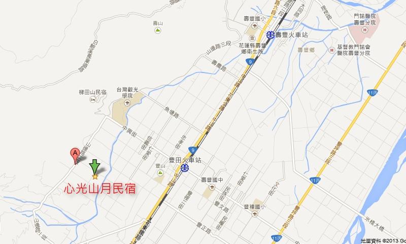 心光山月民宿地圖