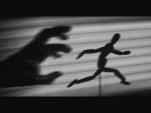 RUNNING AWAY in fear