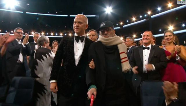 EMMY Ryan Murphy escorts Larry Kramer